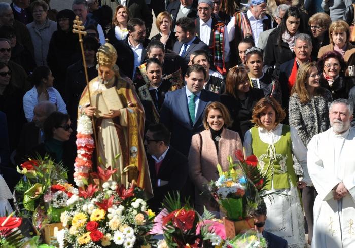 12-03-2016: El PP defiende las tradiciones y el Medio Rural, con su presencia en Navas de Jorquera, con la presidenta del PP-CLM al frente, María Dolores Cospedal.