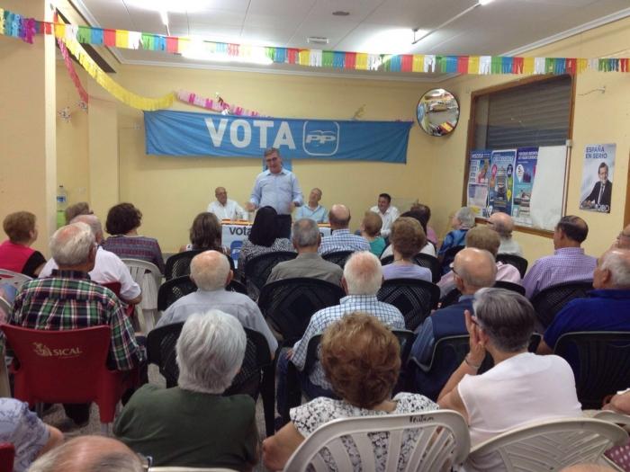 24-06-2016: Mitin de Marcial Marín en Villamalea con notable afluencia de simpatizantes del Partido Popular.