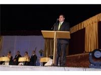13-08-2012: El presidente de la Diputación Provincial y del Partido Popular de Albacete, Francisco Núñez, en la coronación de las reinas de las fiestas de Montealegre del Castillo.