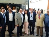27-09-2015: Cargos públicos y alcaldes del PP en la comarca arroparon al portavoz de Abengibre en el inicio de las fiestas.