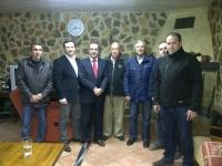 24-02-2014: El diputado regional José Luis Teruel y los diputados provinciales Manuel Mínguez y Juan Gómez en una de las reuniones que han llevado a cabo con el PP de Albatana de cara a las elecciones europeas.