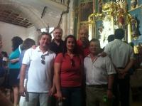 27-08-2012: El diputado nacional, Francisco Molinero, y los diputados provinciales Juan Gómez, Juan Marcos Molina y Pablo Escobar, acompañaron a la alcaldesa de Alcaraz, Lourdes Cano, y a sus vecinos en la celebración de las fiestas patronales.