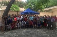 12-06-2016: Comida en la Plaza de las Agustinas, con afiliados del PP de Almansa, con presencia de Paco Núñez, y los candidatos al Congreso y Senado.