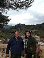 25-02-2013: La senadora Belén Torres junto con el Alcalde de Villaverde de Guadalimar Felix José García Martínez, con motivo de la reunión mantenida en esta localidad el pasado sábado con el fin de tratar temas de interés nacional y regional.