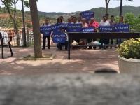 13-06-2016: En Bogarra, la candidata al Senado, Rosario Rodríguez, estuvo con afiliados y simpatizantes, junto con el alcalde de Alcadozo, Ángel Alfaro, y de La Herrera, Pablo Escobar.