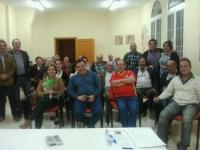 23-10-2012: El alcalde Alonso Cutanda es el nuevo presidente del PP de Casas de Juan Núñez, tras la reunión de la ejecutiva local, con presencia de la secretaria provincial, Cesárea Arnedo y el coordinador de Organización, Antonio Martínez.