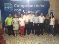 09-06-2016: Vicente Aroca, candidato al Senado, mantuvo una reunión con afiliados de Caudete, con vistas al 26-J.