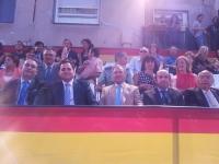 07-09-2012: El presidente del PP, Francisco Núñez, en las fiestas patronales de Caudete, junto a alcaldes del Partido Popular de la comarca.