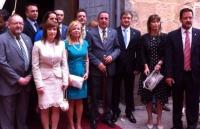 25-06-2014: Autoridades y miembros del Partido Popular en la celebración del Corpus Christi en Hellín.