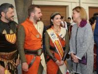 06-05-2016: La presidenta del PP-CLM, María Dolores Cospedal, en las Fiestas Mayores de Almansa.