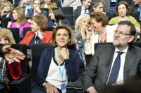 23-01-2015: Cospedal, junto a Rajoy en la Convención Nacional del PP.