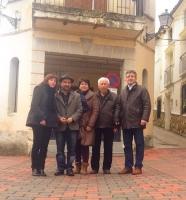 17-02-2014: La diputada nacional Irene Moreno y los diputados provinciales Carmen Álvarez y Abelardo Gálvez en Cotillas, junto con los concejales del PP en la localidad.