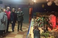 04-12-2015: Carmen Navarro visitó el Belén de los Hermanos de la Cruz Blanca de Hellín.