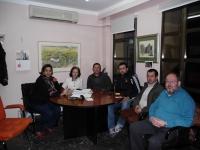 13-02-2013: Reunión de trabajo del senador Dimas Cuevas en Alpera, donde se reunió con la alcaldesa Cesárea Arnedo, así como concejales y miembros de la Junta Local del PP para abordar temas de actualidad y conocer las necesidades de la localidad.