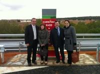 18-02-2013: Los diputados nacionales Irene Moreno y Francisco Molinero y los senadores Vicente Aroca y Belén Torres asisten a la puesta en servicios de la Variante de Ossa de Montiel