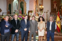 13-10-2012: El presidente del PP, Francisco Núñez, y la diputada provincial Carlota Romero, en las fiestas patronales de La Herrera, junto al alcalde Pablo Escobar.
