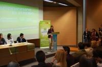 23-03-2013: La nueva presidenta provincial de NNGG, María Delicado, durante su discurso.
