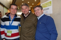 23-03-2013: El diputado provincial, Abelardo Gálvez, y el concejal, José Luis Serrallé, en el X Congreso Provincial de NNGG.