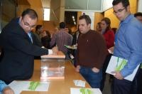 23-03-2013: Imagen de la votación durante el X Congreso Provincial de NNGG.