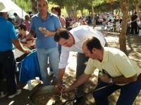 09-10-2012: El presidente del PP de Albacete, en las fiestas patronales de Bonete, junto al alcalde Alejandro Morcillo y el alcalde de Corral Rubio, José Juan Honrubia.