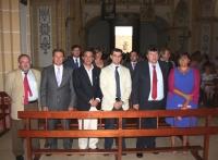 28-08-2012: El delegado de la Junta en Albacete, Javier Cuenca, ha participado en las fiestas de Peñas de San Pedro en compañía del alcalde del municipio, Antonio Serrano, así como de Dimas Cuevas, Cesárea Arnedo, Manuel Mínguez y Pablo Escobar.