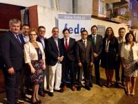 30-09-2016: Paco Núñez acompaña al Grupo Municipal del PP en la cena de FEDA, con motivo de la Feria de Hellín.