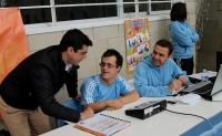 11-04-2015: El candidato a la Alcaldía de Albacete por el Partido Popular, Javier Cuenca, ha asistido esta tarde al XX Campeonato Regional de Fútbol Sala organizado por la Federación de Deportes de Personas con Discapacidad Intelectual de Castilla-La Mancha (Fecam).