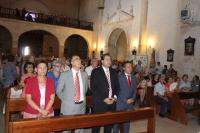 15-08-2014: El presidente del PP, Francisco Núñez, participó en la misa y procesión de Mahora, en honor a la Patrona, la Virgen de Gracia.