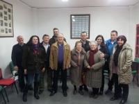 04-03-2014: La senadora Belén Torres y los diputados provinciales Fermín Gómez y Félix Diego Peñarrubia con militantes del PP de Villamalea, tras la reunión mantenida de cara a las elecciones europeas del 25 de mayo.