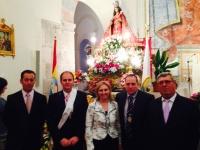 21-05-2015: La Diputada Nacional, Maravillas Falcón acompaña a la candidatura de Jorquera y a Jesus, su alcalde, en la Solemne Misa en Honor a la Virgen de Cubas.