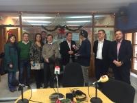 18-12-2015: En Hellín, Francisco Molinero, Manuel Mínguez y Marcial Marín, cerrando la campaña electoral y participando en programas solidarios.