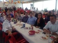 02-10-2015: Almuerzo ferial en Hellín de Paco Núñez con los afiliados y concejales del Partido Popular.