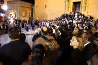 03-04-2015: La presidenta de Castilla-La Mancha, María Dolores Cospedal, ha asistido hoy, jornada de Viernes Santo, a la procesión del Santo Entierro en Hellín..