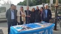 09-12-2015: Mesa informativa del PP en Hellín, con los candidatos Rosario Rodríguez, Manuel Mínguez y la secretaria provincial, Cesárea Arnedo.