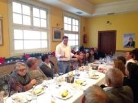 12-12-2015: Reunión comarcal con afiliados en Casas Ibáñez, con presencia de Paco Núñez y Carmen Navarro.