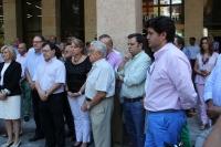 25-07-2013: Minuto de silencio en la puerta del Ayuntamiento de Albacete.
