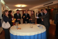 08-01-2013: Imagen del desayuno celebrado en Gran Hotel con los medios de Albacete.