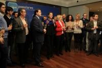 23-12-2013: Imagen de María Dolores Cospedal en el brindis realizado tras el Comité de Dirección del PP de Albacete.