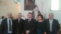 06-10-2014: Los diputados provinciales Abelardo Gálvez y Mari Carmen Alvarez acompañan a los concejales de Férez en las fiestas en honor a la Virgen del Rosario.