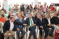 10-09-2015: El presidente del PP, Paco Núñez, en la presentación de Ontur en el stand ferial de la Diputación.