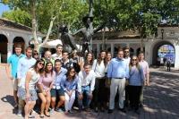 11-09-2015: Reunión ferial con los jóvenes de NNGG de Albacete.