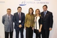 01-02-2013: Los presidentes de Diputación de Albacete, Guadalajara, Cuenca y Toledo y, a la vez, del PP en sus respectivas provincias, con la presidenta de Castilla-La Mancha, María Dolores Cospedal, en Fitur.