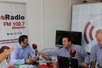 13-09-2013: Francisco Núñez en los micrófonos de Esradio, durante la Feria de Albacete.