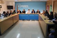 06-11-2013: Reunión con los comités organizadores de los congresos de Villarrobledo, Almansa, Hellín y La Roda.