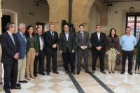08-04-2014: El portavoz del PP en el Senado, Barreiro, y los senadores, en Villarrobledo