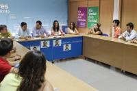 10-07-2014: Paco Núñez y NNGG recuerdan la figura de Miguel Ángel Blanco en la sede provincial del PP.
