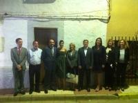 06-10-2012: Los diputados provinciales Valentín Bueno, Pablo Escobar y Maribel Serrano, acompañan a la alcaldesa de Povedilla, Ana Belén Fernández, en la fiestas patronales en honor a la Virgen del Rosario.