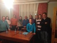 06-03-2014: La diputada regional Inmaculada López y los diputados provinciales Valentín Bueno y Pablo Escobar se han reunido con miembros del PP de Lezuza para animarlos a que participen activamente en las elecciones europeas del 25 de mayo.