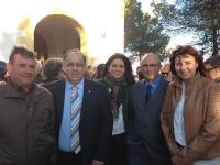 24-03-2014: La senadora Belén Torres, el diputado provincial Abelardo Gálvez y el alcalde de Munera, Pedro Pablo Sánchez han acompañado a los concejales del PP de Lezuza en el traslado de la Virgen de la Cruz a la ermita.