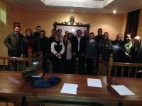 07-03-2014: La diputada regional Inmaculada López y los diputados provinciales Valentín Bueno y Pablo Escobar se han reunido con el PP de Minaya de cara a las elecciones europeas del 25 de mayo.